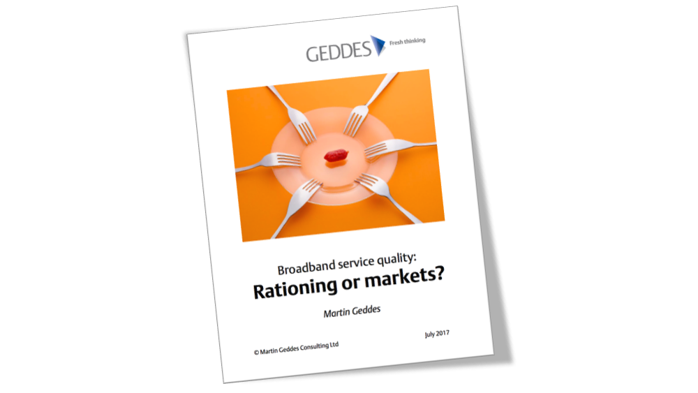 Broadband service quality: Rationing or markets?